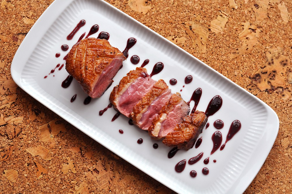 duck-breast-with-blueberry-caramel-sauce-recipe