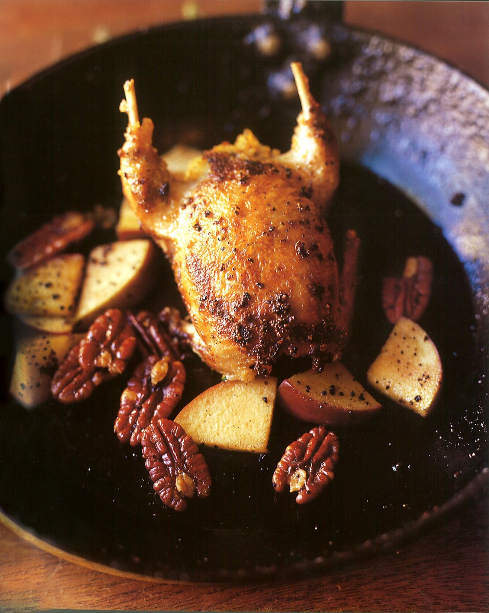 roast-quail-with-apples-and-pecans-recipe