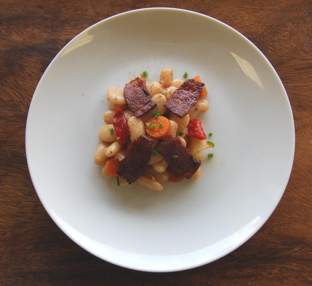 coco-tarbais-bean-salad-with-duck-bacon