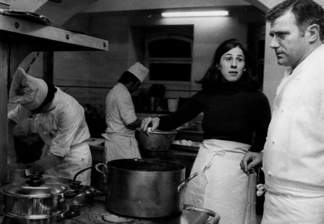 Paula Wolfert studying the cuisine of Gascony with Andre.