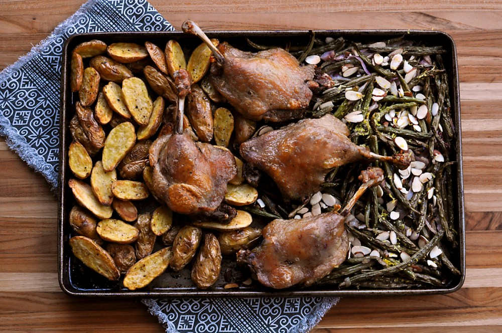 sheet-pan-duck-with-potatoes-green-beans