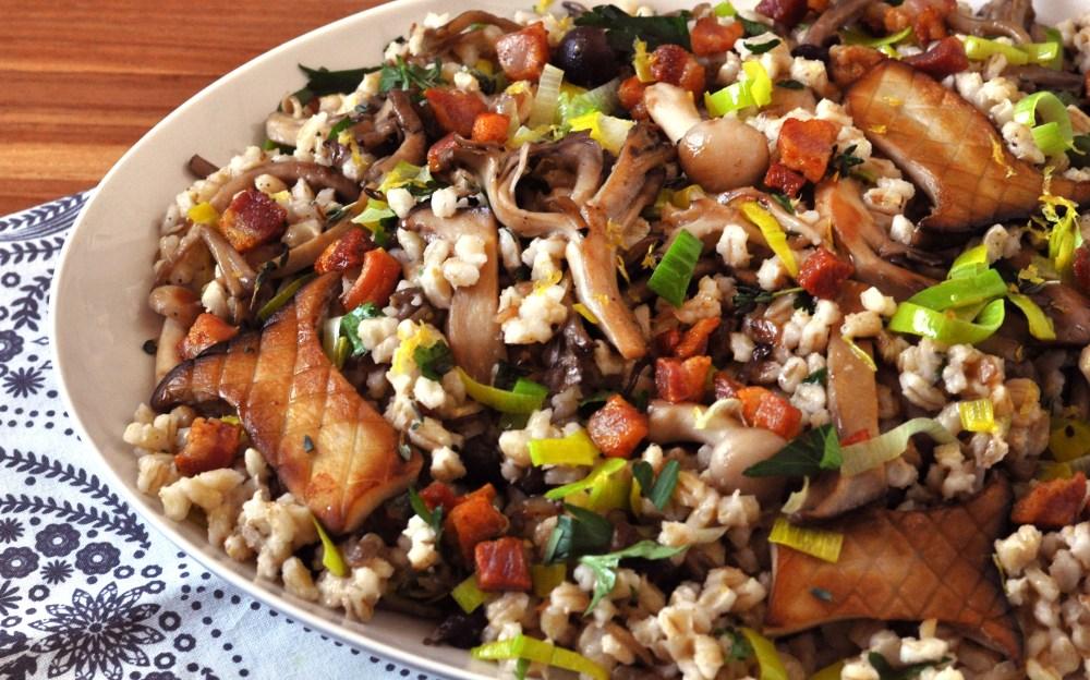 barley mushroom salad alt