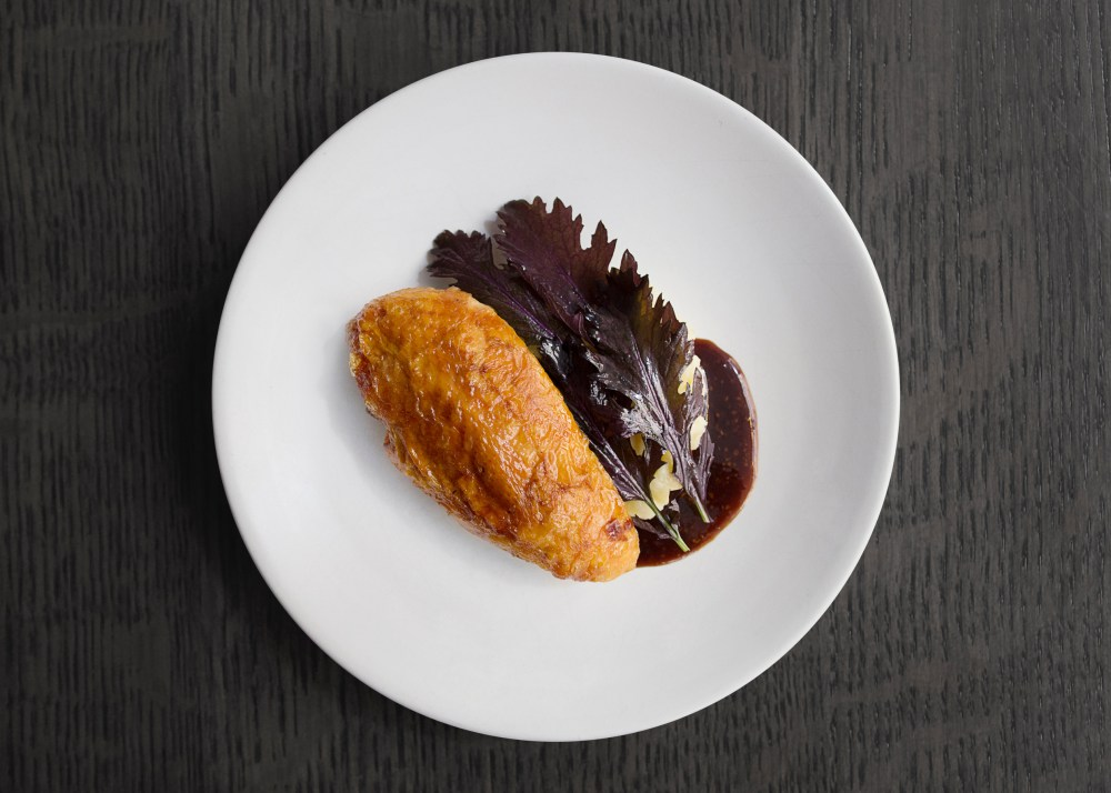 Amish Chicken w potato & mustard dart chicken
