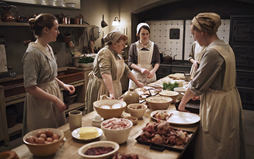 Downton Abbey Kitchen with Game Birds