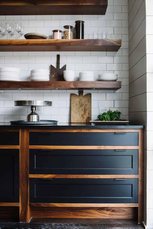 Cabinet Idea Kitchen Open Shelves