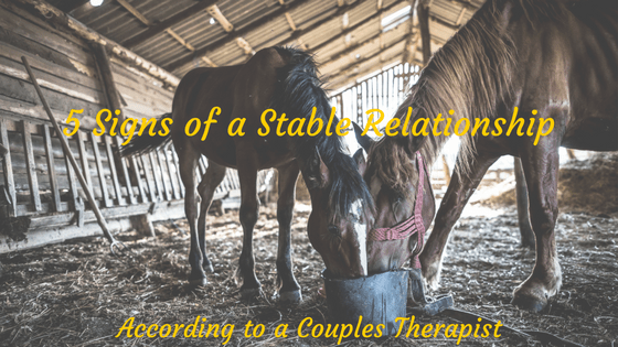5 Signs your Relationship is Stable