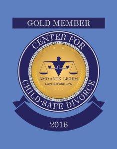 Center for Child-Safe Divorce - Gold Member Cart Crest