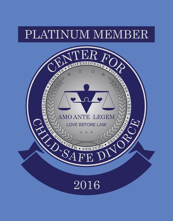 Center for Child-Safe Divorce - Platinum Member Cart Crest