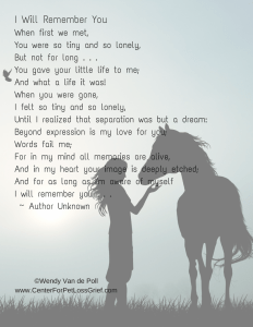 Pet Loss Poem I Will Remember You