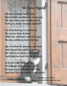 Pet Loss Poem To Love Again