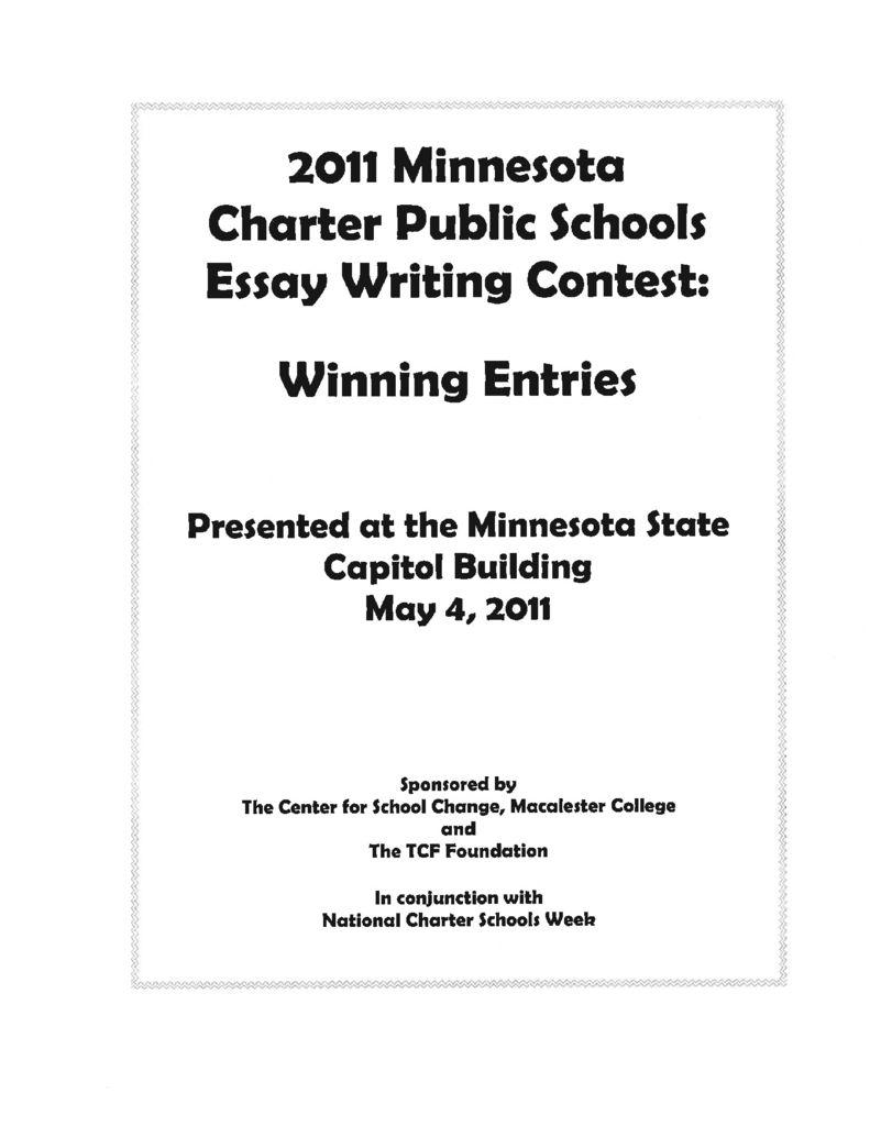 2011 Winning Essays Booklet