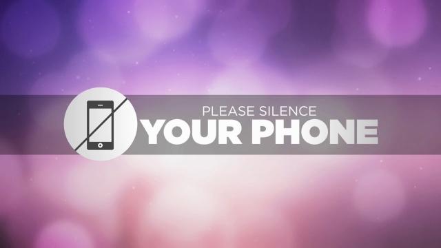silence cell phone slide