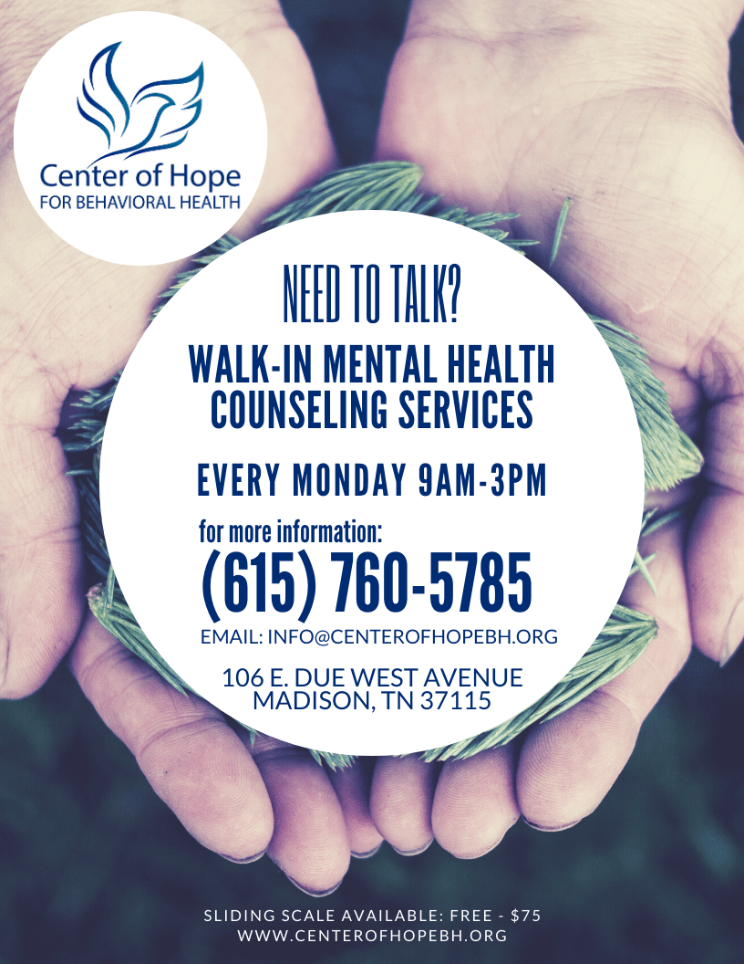 Walk-In Mental Health Counseling Services