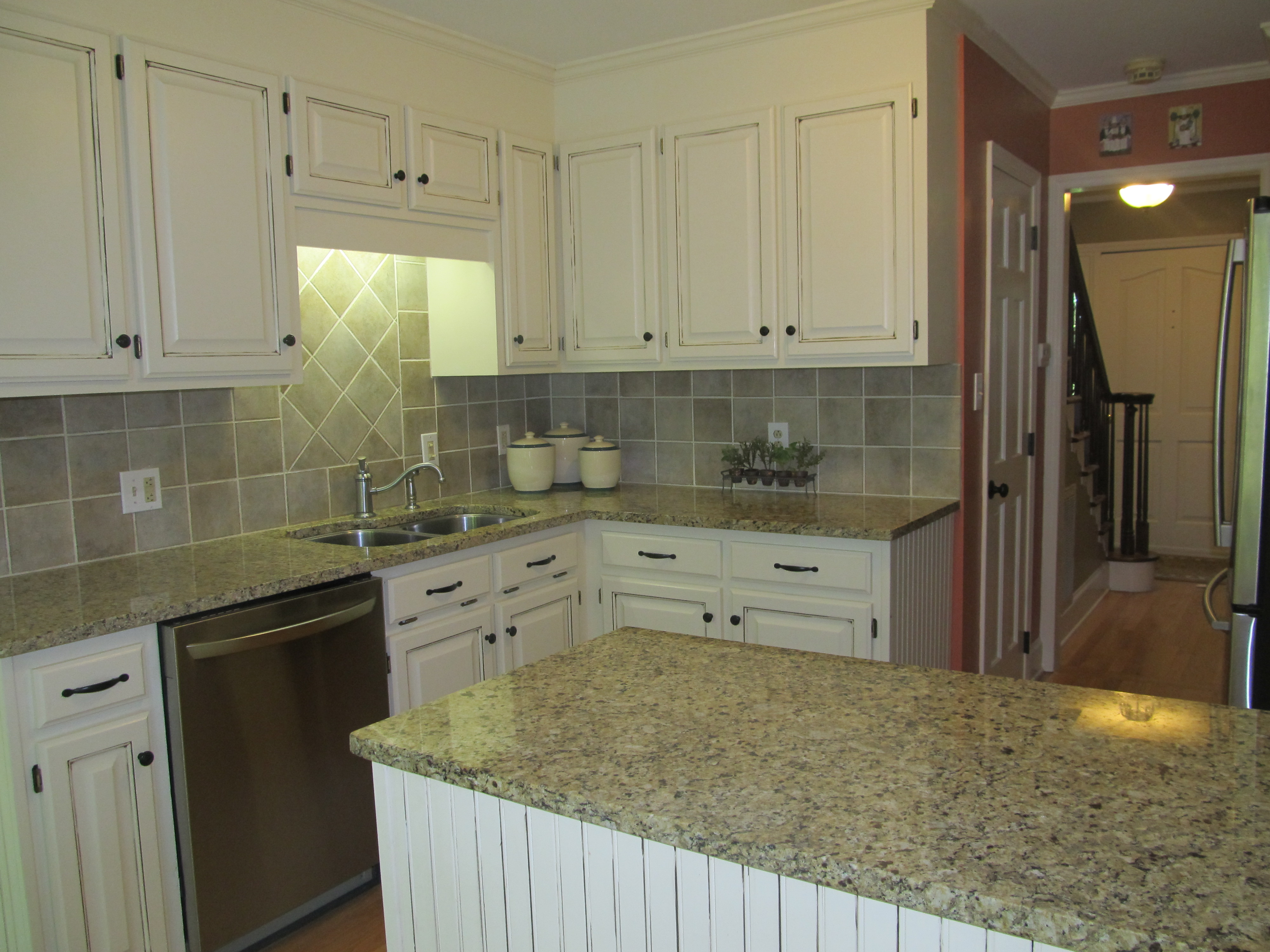 kitchen cabinet makeovers how to refinish sink centerpiece home staging my after remodeling the cabinets