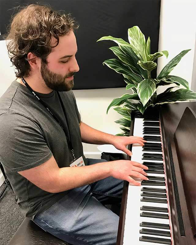 Daniel Passadino, piano, drums, brass and guitar Instructor at Center Stage Music Center
