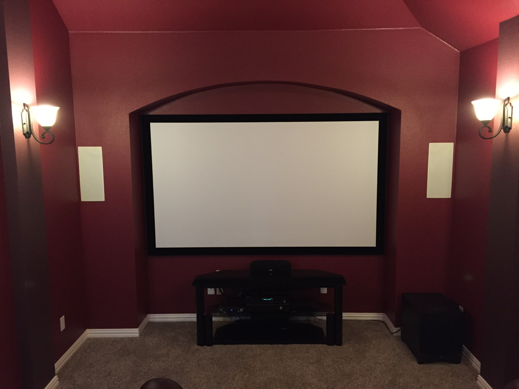 hight resolution of media room