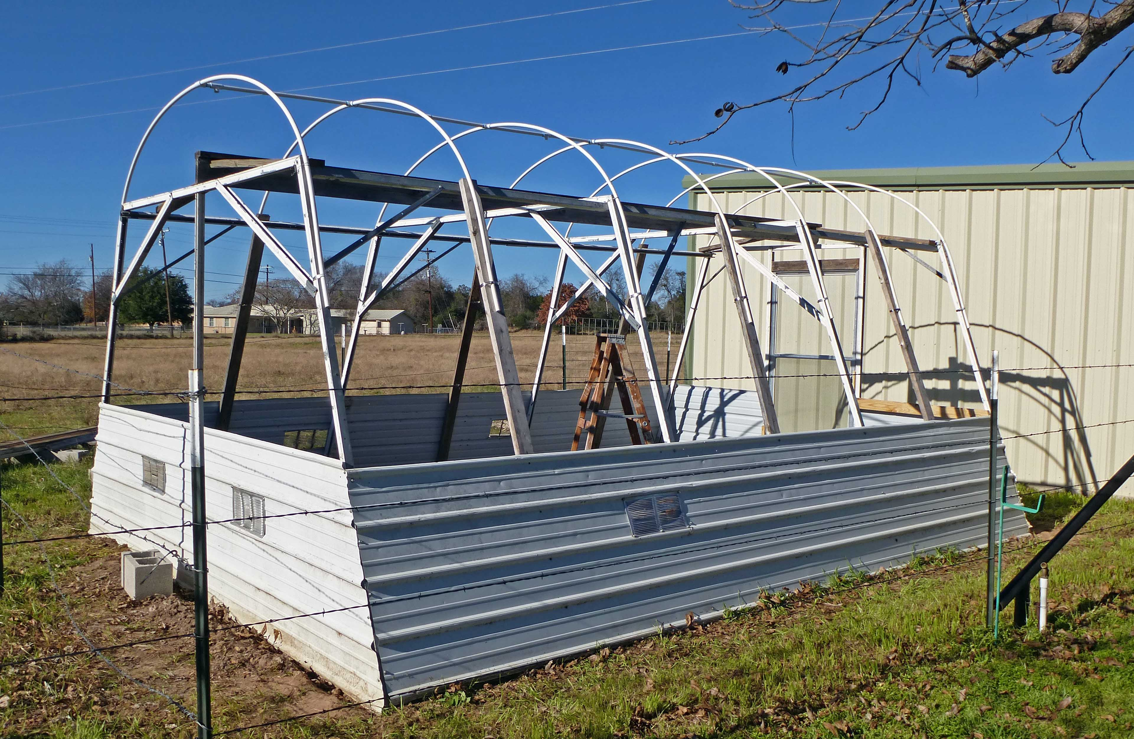 Hoop House Greenhouse - Centex Cooks