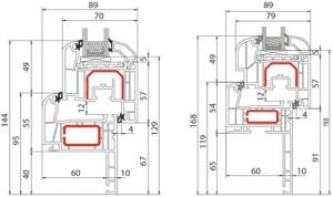 Fenêtre PVC Alusplast IDEAL 4000 réno - Coupe