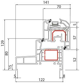 Fenêtre PVC Alusplast IDEAL 4000 monobloc - Coupe
