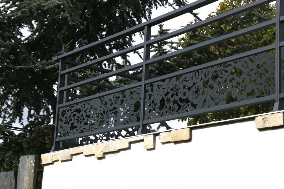 Garde-corps aluminium décoration personnalisées