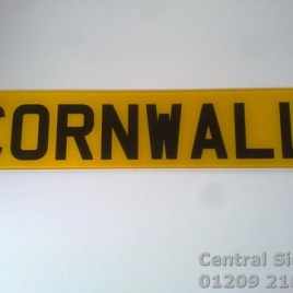 Cornwall Novelty Number Plate
