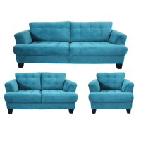 Teal Sofa Set 2 Pcs Dark Teal Fabric Sofa Set Cm6095tl ...