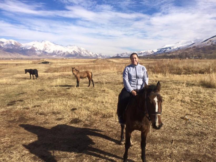 Horseback riding in Kyrgyzstan