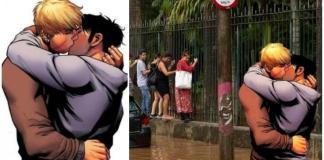 Beijo gay da revista em quadrinhos