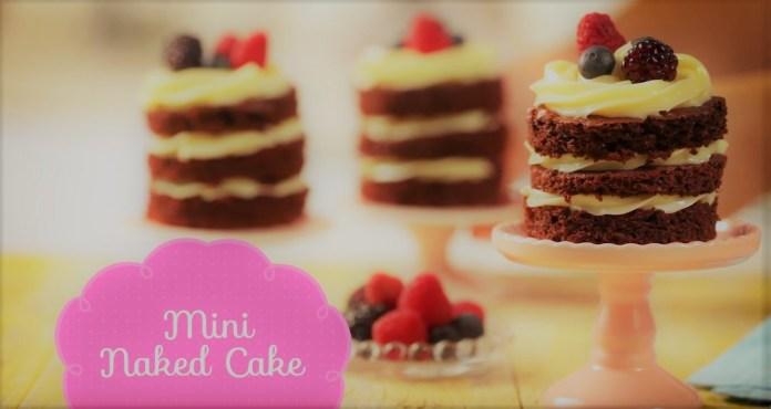 Mini Naked Cake com MOÇA de Colher