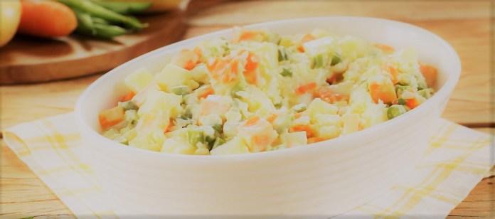 "Salada de ""Maionese"" de Ervas"