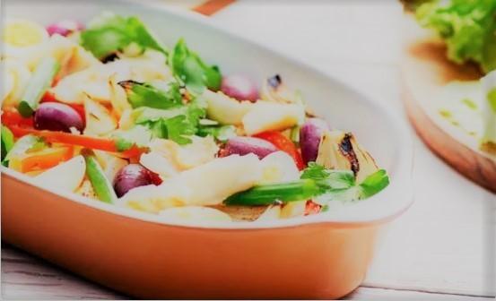 Salada de Bacalhau rápida