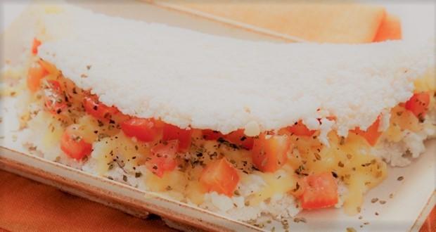 Tapioca com queijo Cottage