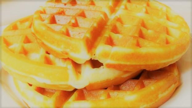 Waffle fácil e rápido