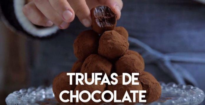 Trufas de Chocolate com recheio cremoso