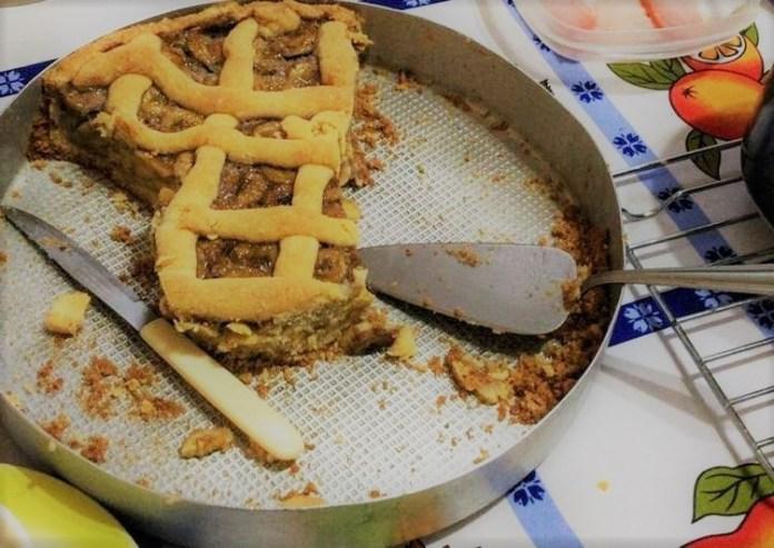 Torta de Banana com massa podre