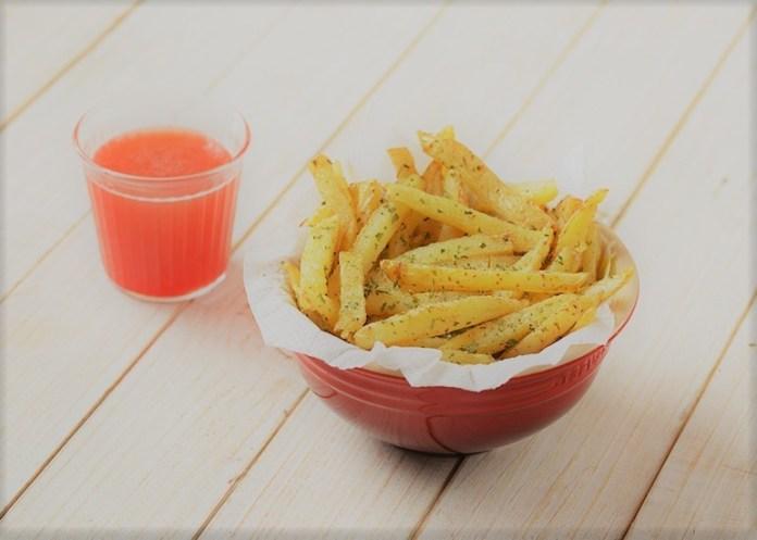 Batatas Fritas com Coentro e Salsa