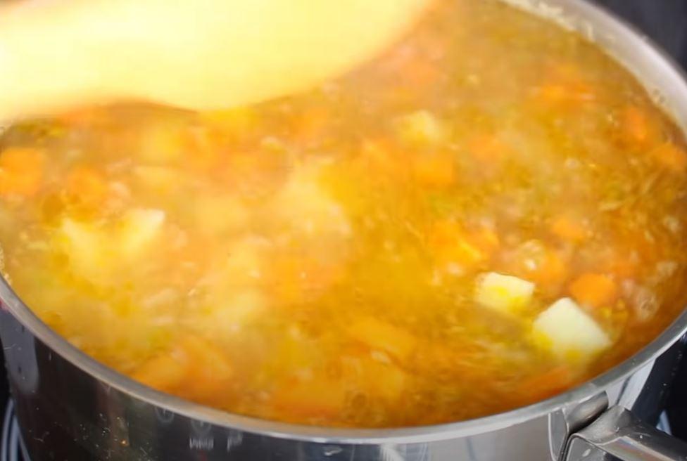 cozinhando a sopa