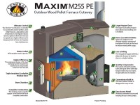 Maxim Outdoor Wood Pellet and Corn Furnace | Central Boiler