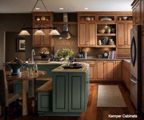 central adding texture to kitchen 2