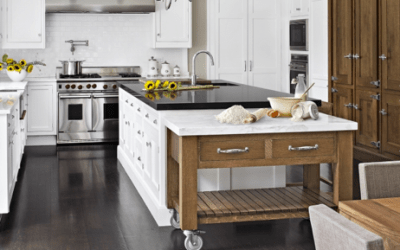 Create A Portable Baking Station for your Kitchen Island