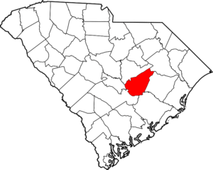 Clarendon County Outline Map of South Carolina
