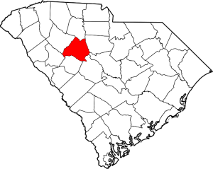 Newberry County Outline Map of South Carolina
