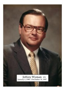 1986-1987 - Jeffery Wyman