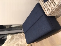 navy ottoman sofa bed