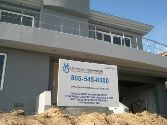 Central Coast Waterproofing is on the job at N Ocean Grover Beach