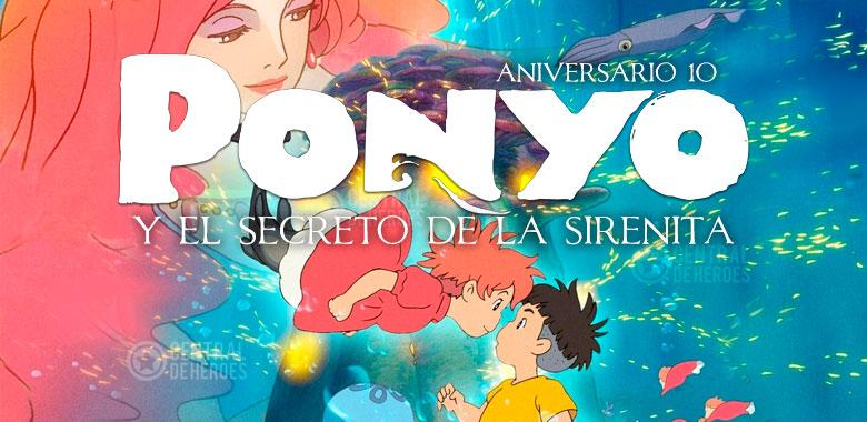 ponyo y el secreto de la sirenita, aniversario 10