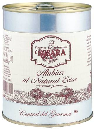 Conservas Rosara Alubia blanca redonda, lata 1 kgr