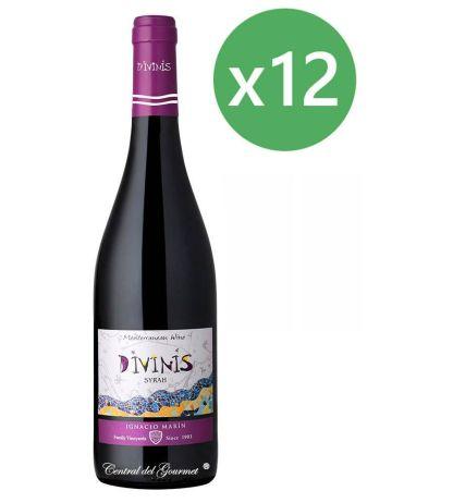 Divinis vino tinto Syrah 2016 Caja