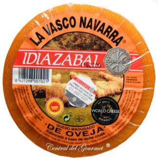 Idiazabal La Vasco Navarra Queso Puro leche cruda  Oveja Ahumado 1,3kgr