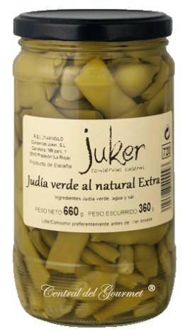 Judia verde extra al Natural, Juker tarro 720gr